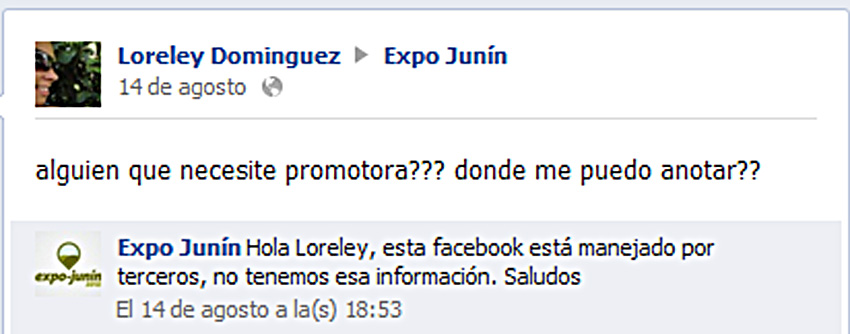 Expo Junin Facebook 2012