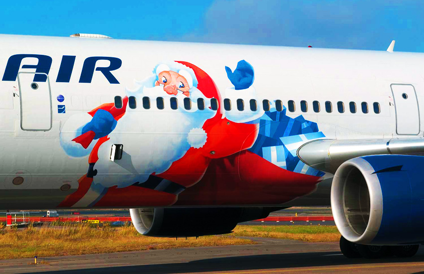 Finnair-Santa-Claus