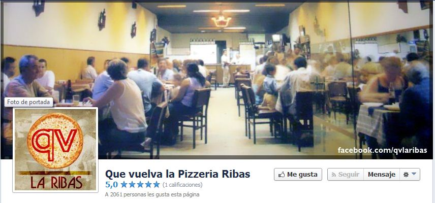 Pizzaría Ribas facebook