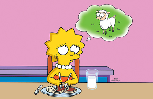 Lisa-Simpson-vegetariana