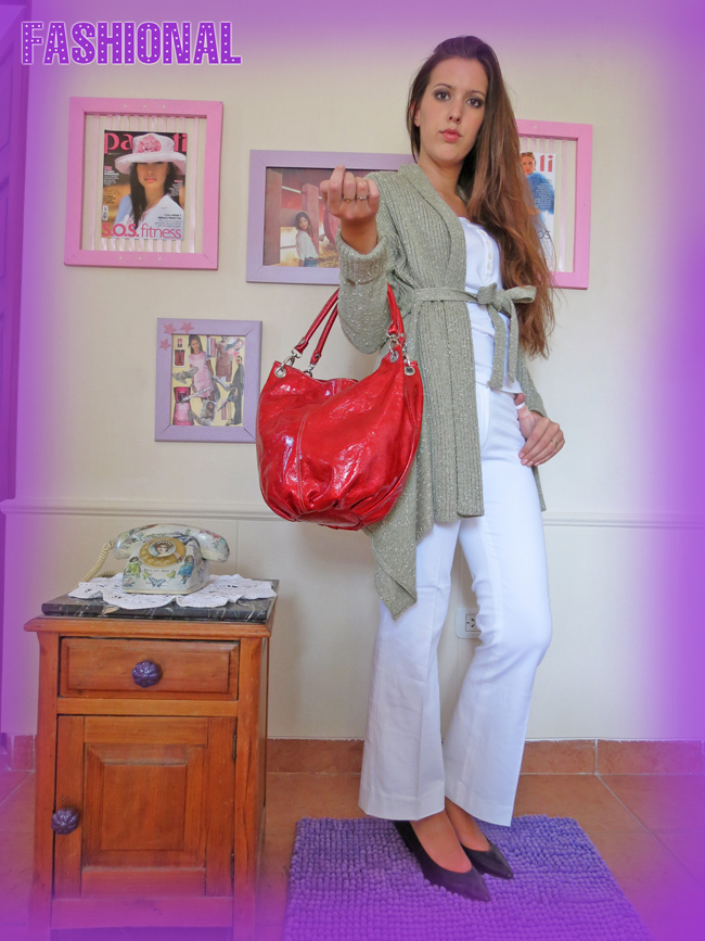Fashional bolso colorado